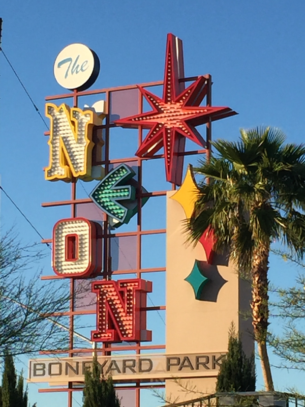 The neon sign for the Neon Museum, a Las Vegas Wedding Venue perfect for a destination wedding