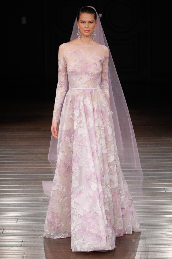 Lavender wedding dress by Naeen Khan, a non-traditional wedding dress idea