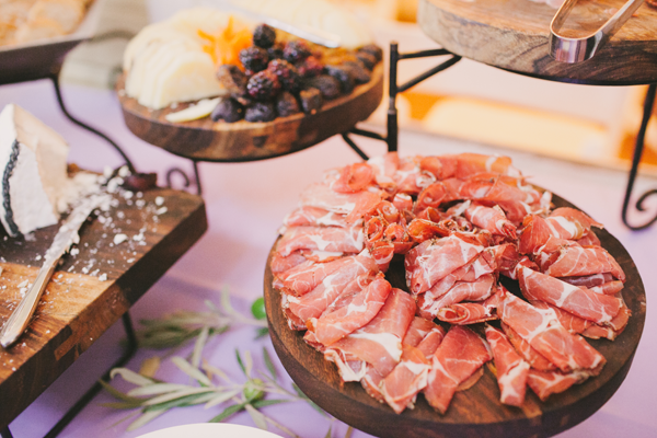 Charcuterie plate at a San Francisco wedding by Destination wedding planner, Mango Muse Events