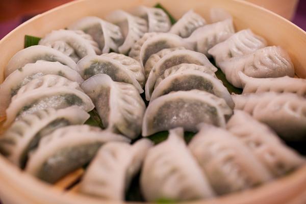 Dumplings on a wedding menu at a San Francisco wedding by Destination wedding planner, Mango Muse Events