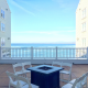 Ocean terrace at the Intercontinental The Clement in Monterey, a Monterey wedding venue shared by Destination wedding planner, Mango Muse Events