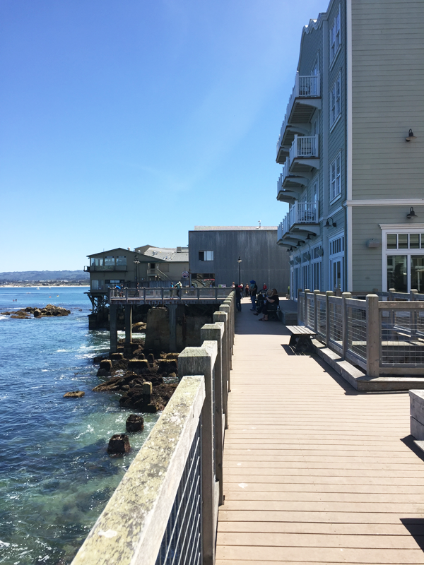Pier in front of the Intercontinental The Clement in Monterey, a Monterey wedding venue shared by Destination wedding planner, Mango Muse Events
