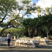 Wedding videographer in action at a Big Island destination wedding by Destination wedding planner Mango Muse Events