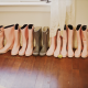 Bride and bridesmaid rain boots for a rainy wedding day