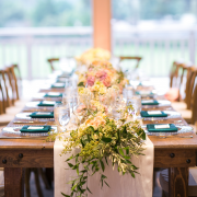 Natural classic wedding tablescape for a Carmel destination wedding by Destination wedding planner, Mango Muse Events