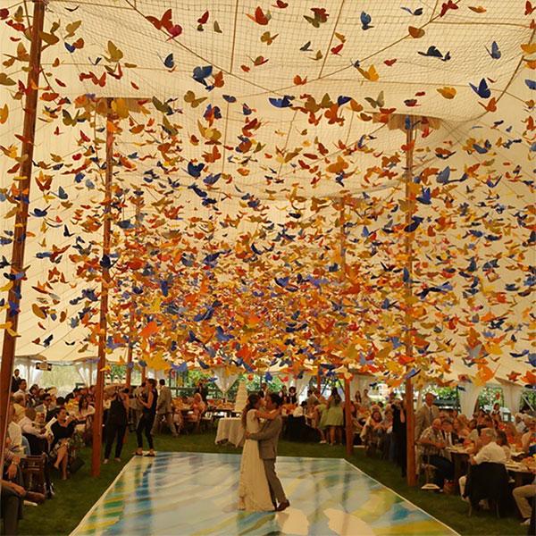 First dance under a canopy of butterflies taken by Spintronix