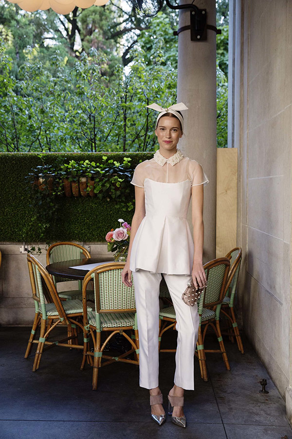 2 piece wedding outfit from the Lela Rose bridal fashion week Fall 2017 collection