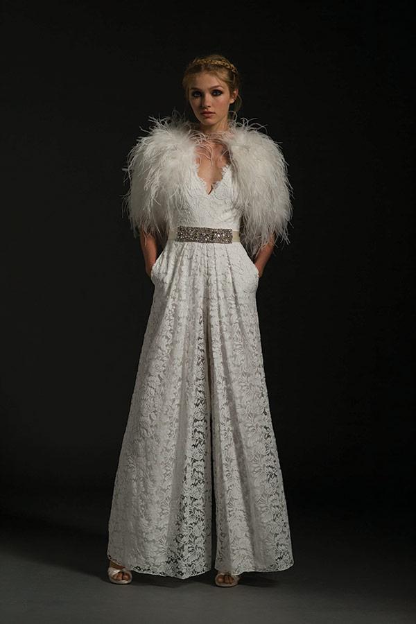 Bolero wedding dress from the Temperley London bridal fashion week Fall 2017 collection