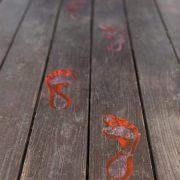 Bloody footprints as a part of 12 Halloween decor ideas