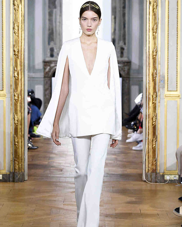Pantsuit from the Kaviar Gauche bridal fashion week Fall 2017 collection