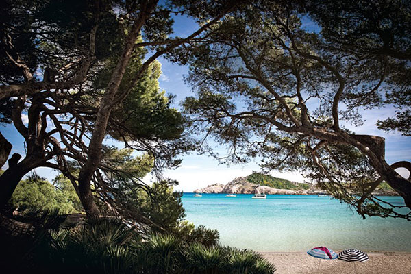 Cala Agulla beach in Mallorca, Spain, one of eight Zika-free destinations shared by Destination wedding planner, Mango Muse Events