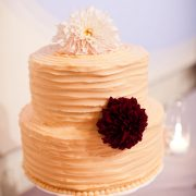 Peach textured wedding cake for a fall San Francisco wedding by Destination wedding planner, Mango Muse Events