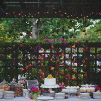 Wedding dessert bar with sweet treats designed by destination wedding planner, Mango Muse Events