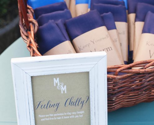Pashminas as wedding favors for a fall Sonoma destination wedding by Destination wedding planner, Mango Muse Events