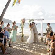 Beach wedding ceremony in St. Croix US Virgin Islands Caribbean destination wedding by destination wedding planner Mango Muse Events