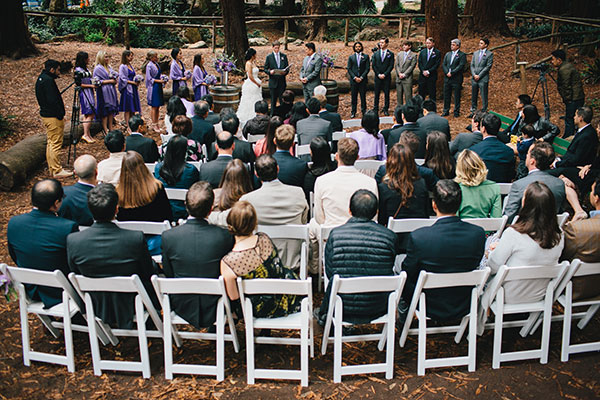 Outdoor San Francisco wedding ceremony by Destination wedding planner, Mango Muse Events