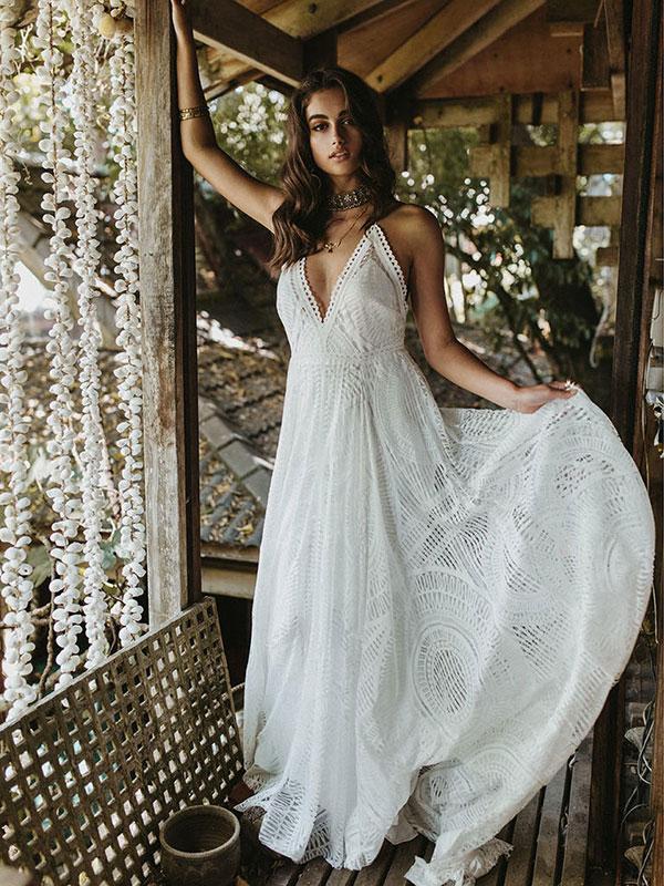 Boho wedding dress by Lovers Society Spring 2018 Bridal