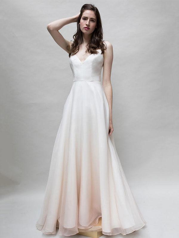 Blush wedding dress by Louvienne Spring 2018 Bridal