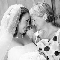 Bride and mother at destination wedding in Healdsburg by destination wedding planner of Mango Muse Events