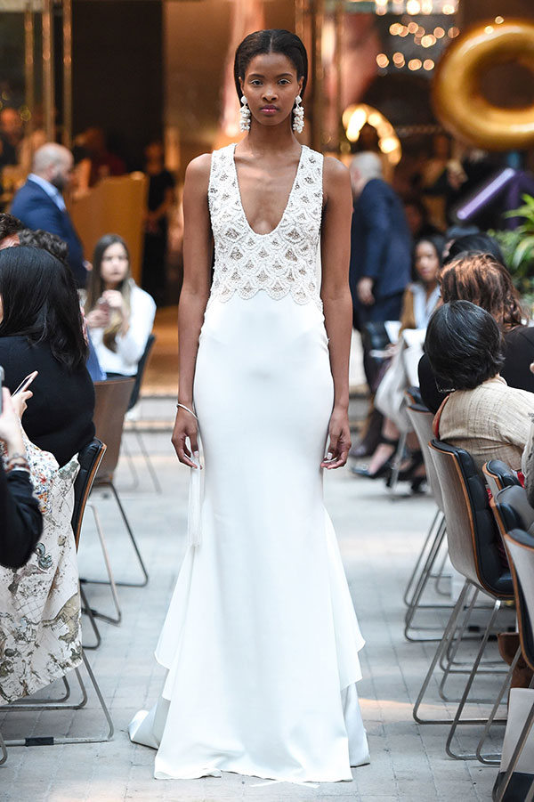 Scalloped wedding dress by Sachin and Babi Spring 2018 Bridal