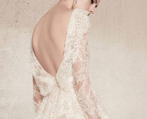 Tulle open back wedding dress by Elie Saab Spring 2018 Bridal