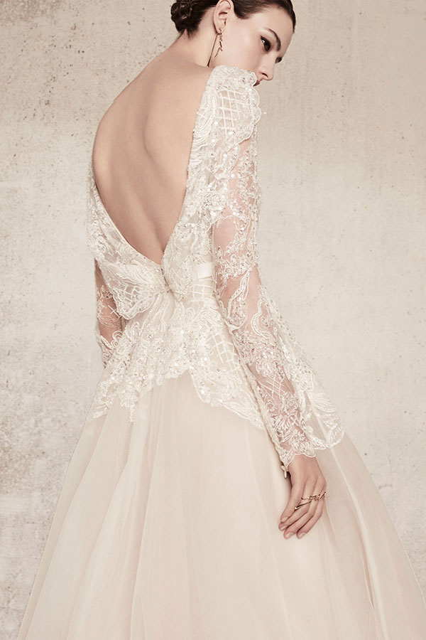 Tulle open back wedding dress by Elie Saab Spring 2018 Bridal