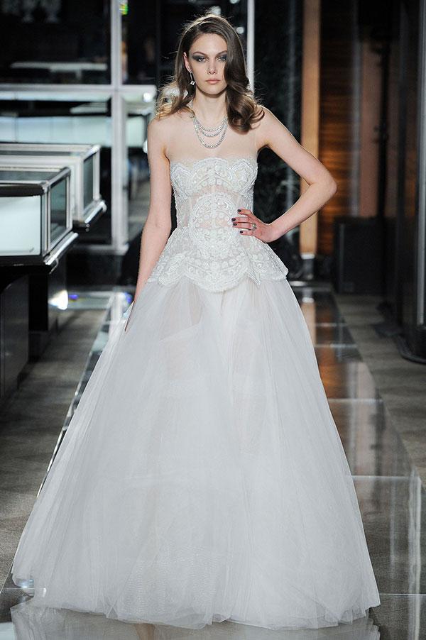 Princess tulle wedding dress by Reem Acra Spring 2018 Bridal