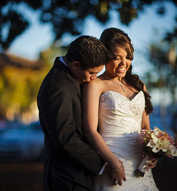 Bride and groom at their wine country wedding in Sonoma by Destination wedding planner, Mango Muse Events