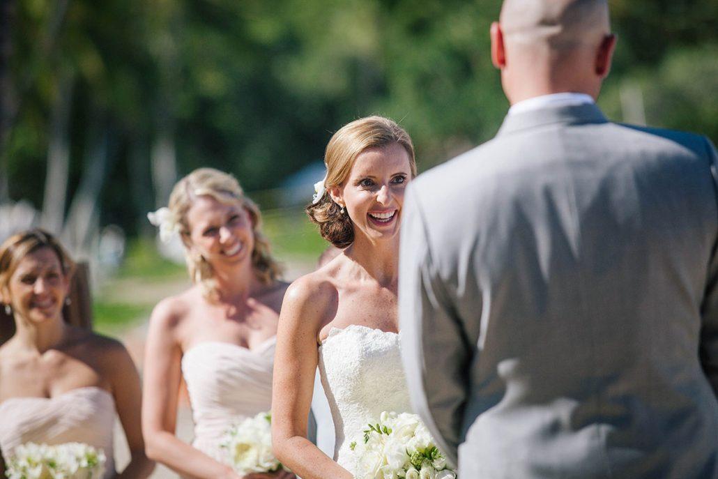 Bride and bridesmaids at a Big Island Hawaii destination wedding by Destination wedding planner Mango Muse Events