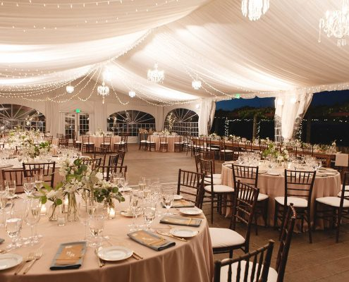 An elegant wedding tent at Viansa winery for a Sonoma destination wedding by Destination wedding planner Mango Muse Events