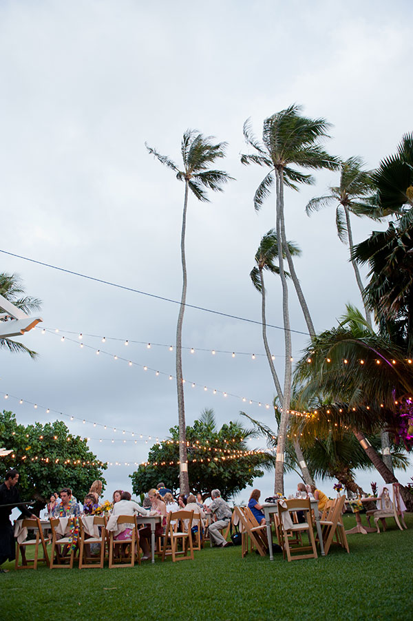 Outdoor Hawaii wedding at a private estate by Destination wedding planner Mango Muse Events