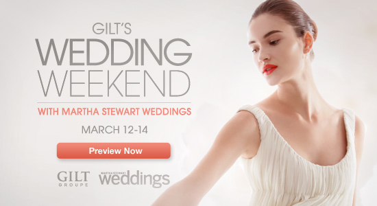 Gilt Groupe Wedding Sale Weekend
