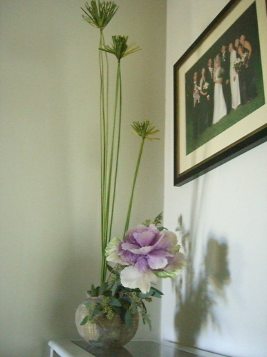 Cabbage ikebana arrangement