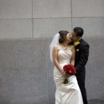 Wedding couple kissing at a San Francisco Wedding by Destination Wedding Planner, Mango Muse Events