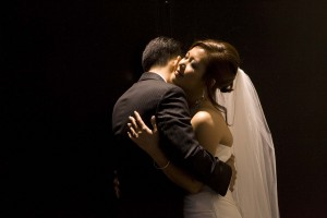 Wedding couple embrace at a San Francisco Wedding by Destination Wedding Planner, Mango Muse Events