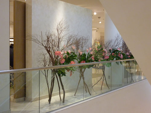Branch Wall Hawaii Ikebana arrangement at Neiman Marcus