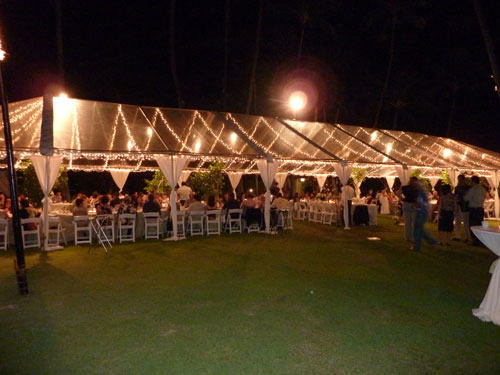 Clear Tent at a Green Wedding in Hawaii by Destination Wedding Planner, Mango Muse Events