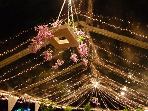Orchid Chandeliers at a Green Wedding in Hawaii by Destination Wedding Planner, Mango Muse Events