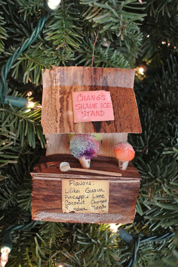 Shave Ice Ornament for A Christmas Tree