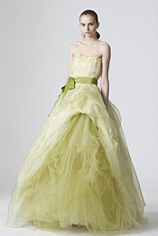 Green citrine wedding gown for Green wedding inspiration by Destination wedding planner, Mango Muse Events