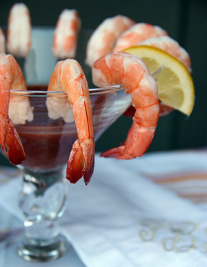 Shrimp cocktail inspiration for Mad Men party ideas by Destination wedding planner, Mango Muse Events