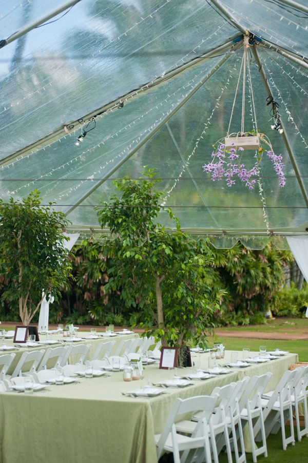 Green linen and ficus trees for Green wedding inspiration by Destination wedding planner, Mango Muse Events