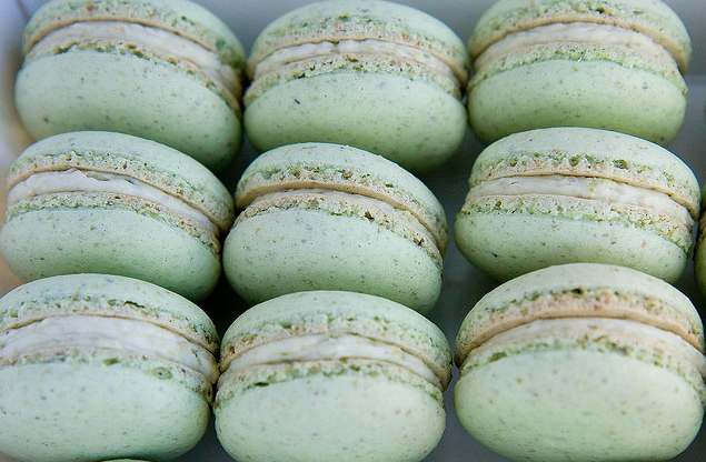 Mint green macarons for Green wedding inspiration by Destination wedding planner, Mango Muse Events