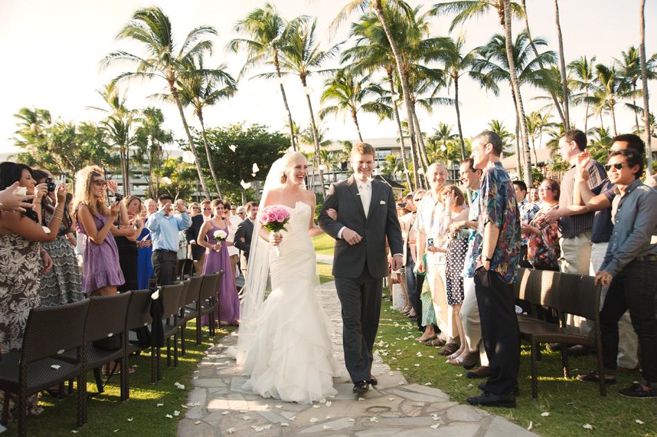Hawaii wedding ceremony for Hawaii destination weddings by Destination wedding planner, Mango Muse Events