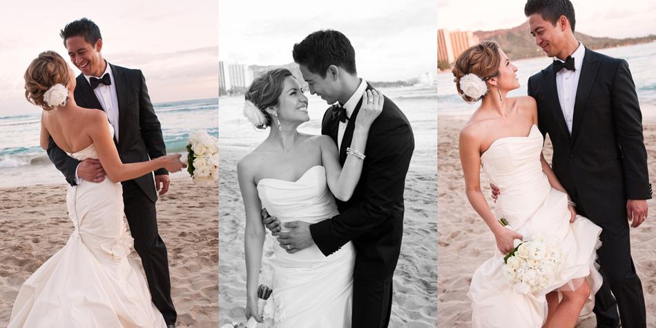 Beach wedding photos for Hawaii destination weddings by Destination wedding planner, Mango Muse Events
