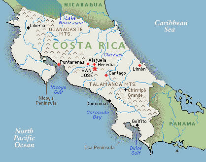 Costa Rica map Costa Rica destination wedding by Destination wedding planner, Mango Muse Events