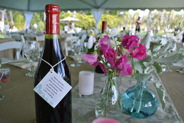 Homemade wine at a personalized Hawaii wedding by Destination wedding planner, Mango Muse Events