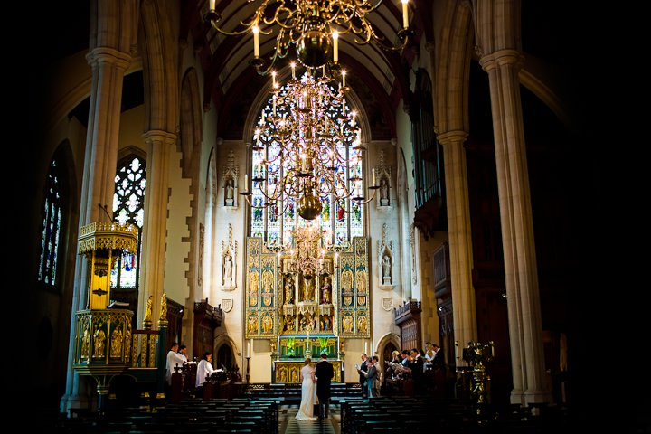Church wedding at a London destination wedding shared by Destination wedding planner, Mango Muse Events