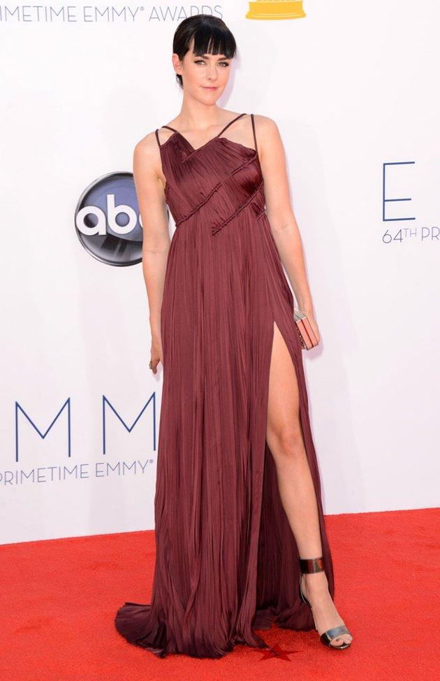 Jenna Malone burgundy dress Emmy fashion wedding inspiration by Destination wedding planner, Mango Muse Events