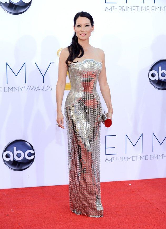 Lucy Liu silver dress Emmy fashion wedding inspiration by Destination wedding planner, Mango Muse Events
